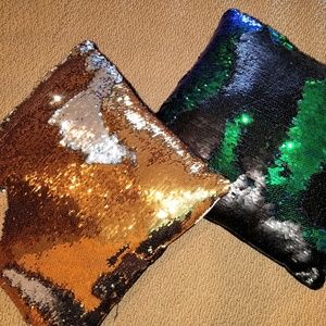 2 mermaid reversible sequin pillows 16 inch